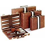"18"" Brown and White Backgammon Set"