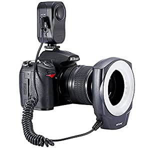 Neewer 48 Marco LED Ring Light with 6 Adapter Rings (49mm, 52mm, 55mm, 58mm, 62mm or 67mm) for Macro Canon/Nikon/Sigma/Tamron Lens