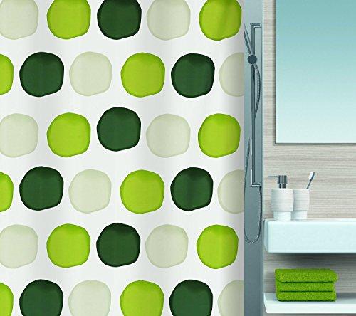 spirella-1015182-nubo-cortina-de-ducha-de-tela-180-x-200-cm-color-blanco-con-lunares-verdes