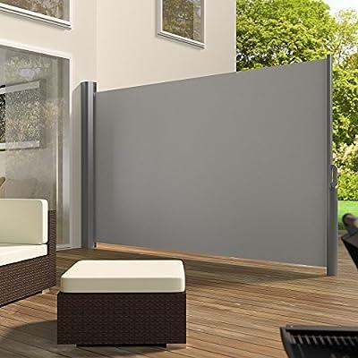 TecTake Seitenmarkise Sonnenschutz Sichtschutz Windschutz Aluminium 180x300cm grau von TecTake auf Gartenmöbel von Du und Dein Garten