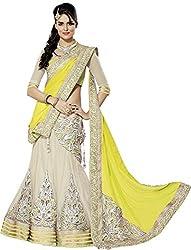 Apka Apna Fashion Women's Net Lehenga Choli (aaf13_Yellow_Free Size)
