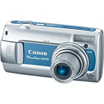 Canon PowerShot A470 7MP Digital Camera with 3.4x Optical Zoom (Blue)