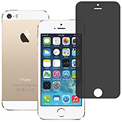 AirPlus AirGuard 9H Premium Tempered Privacy Glass Screen Protector for Apple iPhone 5s/5/5c (Glossy Clear)