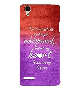 EPICCASE romantic quotes Mobile Back Case Cover For Oppo F1 (Designer Case)
