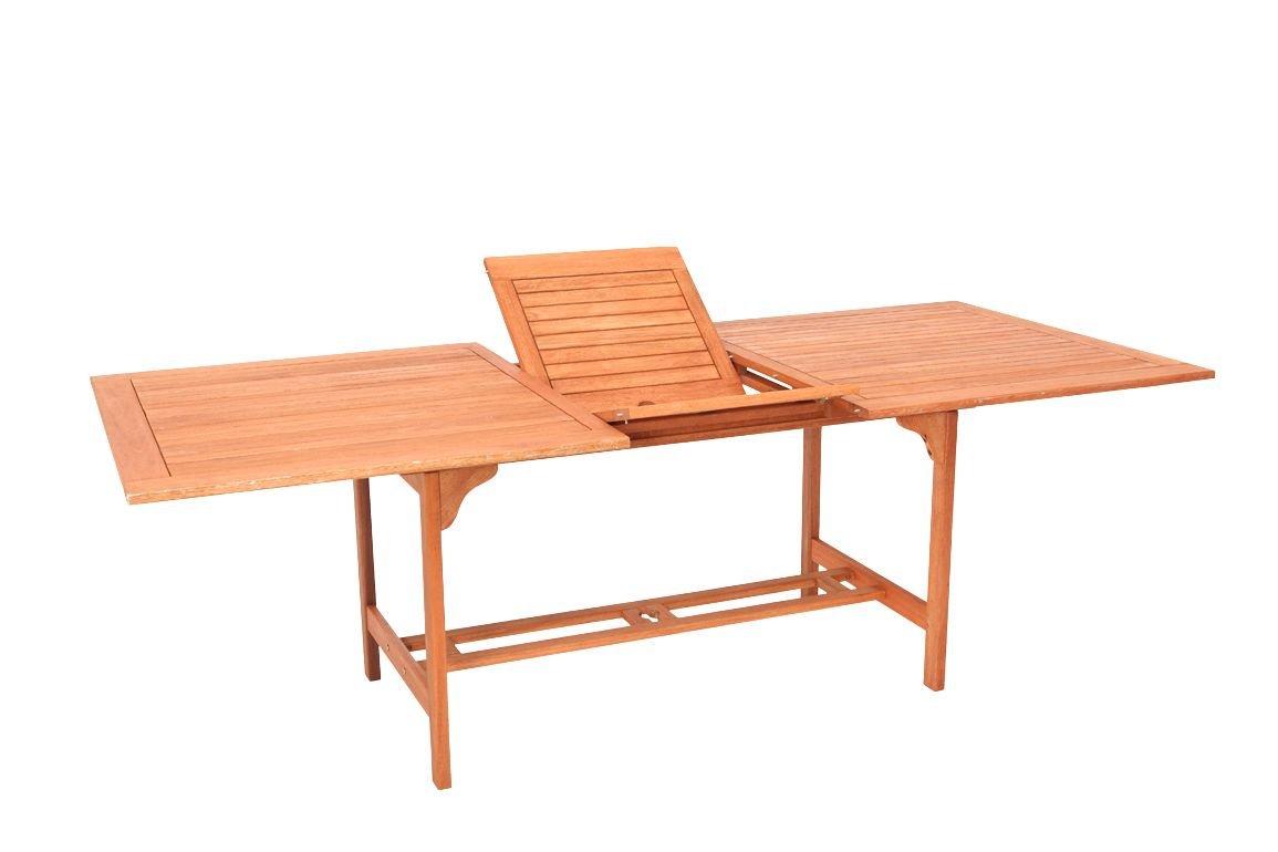 XXL - Ausziehtisch Cordoba 180/230x100cm aus Eukalyptusholz, FSC®-zertifiziert
