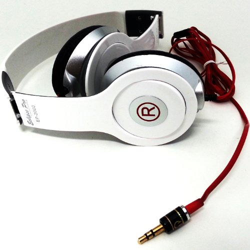 Eclipse Pro Dolby Sound High Definition Foldable Headphones - White