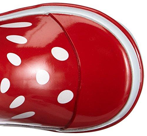 Playshoes Gummistiefel Punkte 181767, Mädchen Gummistiefel, Rot (rot 8), EU 24/25 -