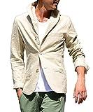 (ジョーカーセレクト(JOKER Select) テーラードジャケット 綿 麻 イタリアンカラー L ベージュ(54)