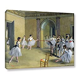 ArtWall Edgar Degas\'s The Dance Foyer at The Opera on The Rue Le Peletier Gallery-Wrapped Canvas, 36 x 48\