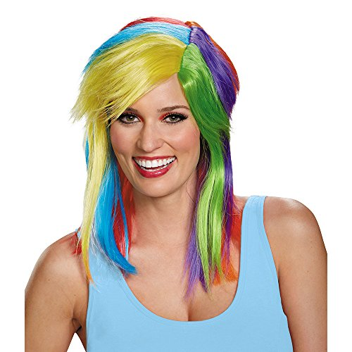 Disguise Women's Rainbow Dash Adult Costume Wig