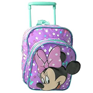 Minnie Mouse Mini Travel Cabin Wheeled Bag Trolley Suit Case Luggage Backpack from Sambro