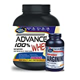 Advance 100% Whey Protein 2kg Vanilla & Advance Arginine 600mg 240 Capsules Combo Offer