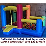 "My Bouncer Little Castle 88"" L x 118"" W x 72"" H Bounce House Bopper w/ Built-in Ball Pit; Hoop & Step (Large Floor Space Required !!! Other Models & Sizes Available, Sold thru Separate Amazon Listing)"