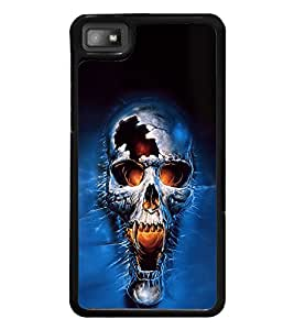 Fuson Premium 2D Back Case Cover Fierce Skull With pink Background Degined For Blackberry Z10