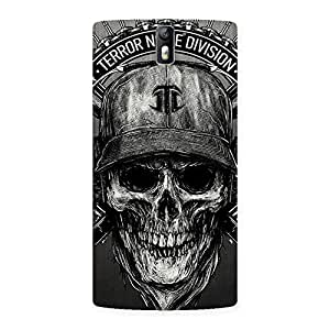 Enticing Grey Skull Terr Back Case Cover for One Plus One