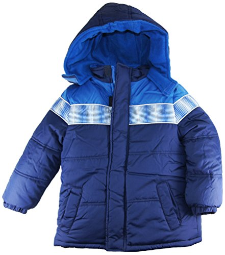Ixtreme Little Boys Classic Puffer Hooded Winter Jacket, Navy, 2T front-878513