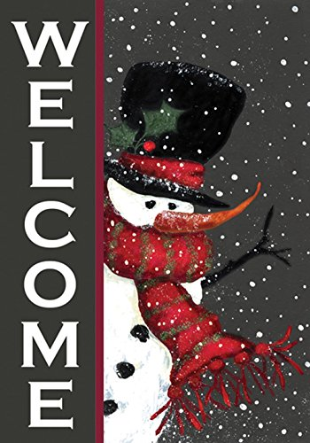 toland-snowman-welcome-decorative-double-sided-winter-christmas-black-usa-produced-garden-flag