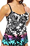 51kP5EPoF4L. SL160  Coco Reef Sunset Harbor Peasant Tankini Swim Top (U74042)