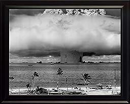 Baker Shot, Operation Crossroads, Nuke Test At Bikini Atoll in 1946 8x10 High Quality Framed Photo