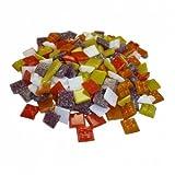 Glasmosaik ~1450 Mosaiksteine 1x1cm 1000g Gelb-Orange-Rot-Mix