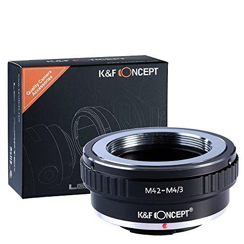 KF Concept® マウントアダプター レンズアダプター マイクロフォーサーズ M42-m4/3 M42マウントレンズ-マイクロフォーサーズマウントボディ用 M42レンズ- Micro4/3カメラ装着用レンズアダプターリング Olympus PEN E-P1 P2 P3 P5 E-PL1 PL1s PL2 PL3 PL5 PL6 E-PM1 PM2 OM-D E-M5 E-M1 Panasonic Lumix DMC-GH1 GH2 GH3 GX7 G1 G2 G10 G3 G5 G6 GF1 GF2 GF3 GF5 GF6 GX1 GM専用 高精度 高品質