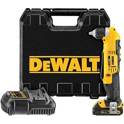 DEWALT DCD740C1 20-Volt MAX Lithium-Ion Compact Right Angle Drill Kit, 1.5 Ah