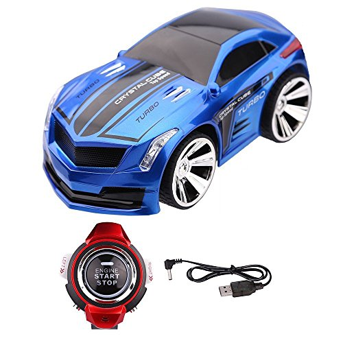 Voice Control Car,AKaho Rechargeable Creative Voice-activated Remote Control Toy Car ,Commanded by Smart Watch(Blue)