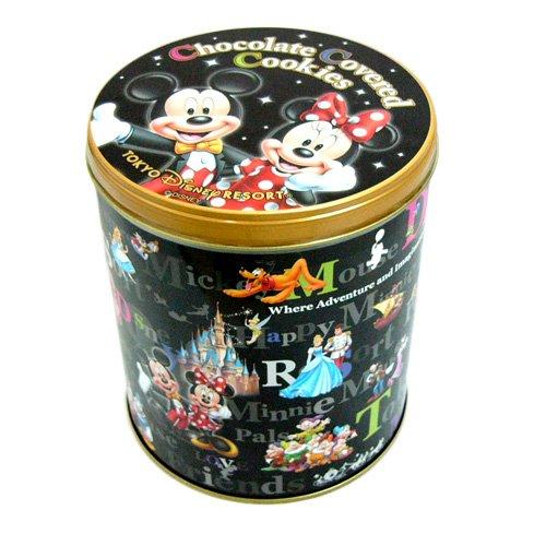 ミッキー ミニー 缶入りチョコレートカバードクッキー お菓子【東京ディズニーリゾート限定】