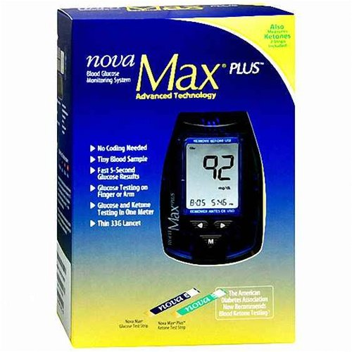 Cheap Nova Max Plus Blood Glucose Monitoring System (LPN 48643A)