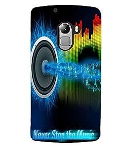 ColourCraft Music Design Back Case Cover for LENOVO VIBE X3 LITE