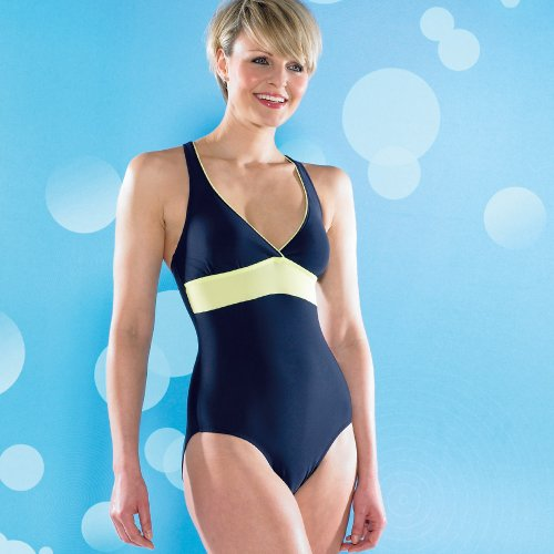 Maru Mimosa Womens Medium Leg Swimming Costume - Navy