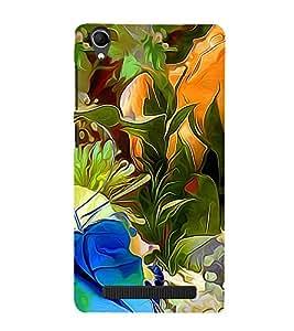 Colourful Flowers Pattern 3D Hard Polycarbonate Designer Back Case Cover for Intex Aqua Power Plus :: Intex Aqua Power +
