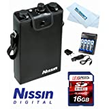 Nissin NDP300C NDP300 NDP300-C Power Pack Pro 300 Battery for Canon + Charger + 16GB Kit