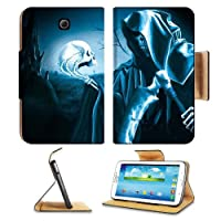 Grim Reaper Halloween Skull Death Scary Samsung Galaxy Tab 3 7.0 Flip Case Stand Magnetic Cover Open Ports Customized Made to Order Support Ready Premium Deluxe Pu Leather 7 12/16 Inch (190mm) X 5 5/8 Inch (117mm) X 11/16 Inch (17mm) MSD Galaxy Tab3 Cases