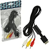 ZedLabz composite AV to RCA cable for Sony PlayStation 1, 2 & 3 (PS1, PS2, PS3)