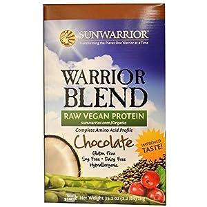 Sun Warrior, Protéine Brute à base de plantes, Warrior Blend, Chocolat, 35.2 oz (1 kg)