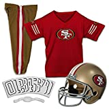 Franklin Sports NFL San Francisco 49ers Deluxe Youth Uniform Set, Small