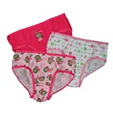 Carter's Girls 2-6x Monkey Briefs 3Pair Pack