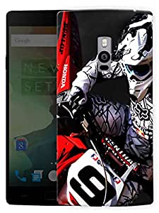 """Humor Gang Moto Racing Love Printed Designer Mobile Back Cover For """"OnePlus Two"""" (3D, Matte, Premium Quality Snap On Case)"""