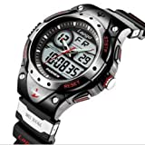 HighQuality PASNEW Water-proof Dual Time Children Boys Girls Sport Watch
