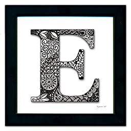 E Monogram Pen & Ink