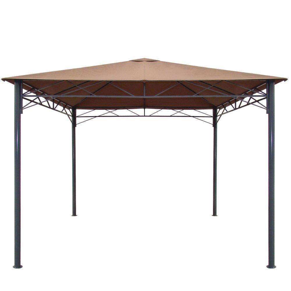 Siena Garden 759464 Pavillon Burgos, Gestell hammerschlag / Dach Polyester natur, 300 x 300 x 270 cm jetzt kaufen