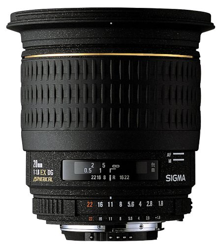 Sigma 20mm f/1.8 EX DG RF Aspherical Wide Angle Lens for Sigma SLR Cameras review