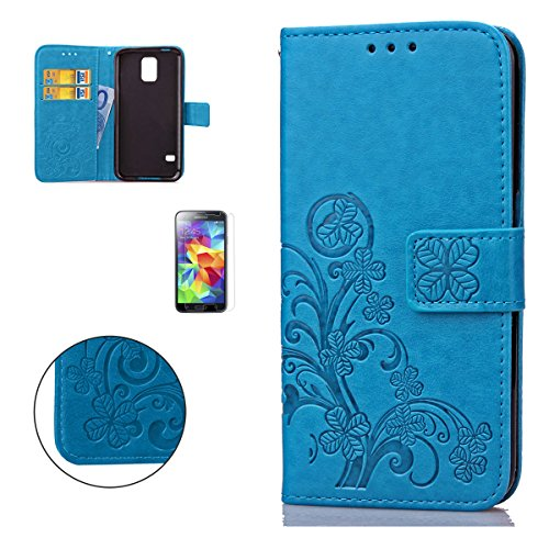 casehome-samsung-galaxy-s5-i9600-embossed-leather-case-with-free-screen-protectorfour-leaf-clover-pa