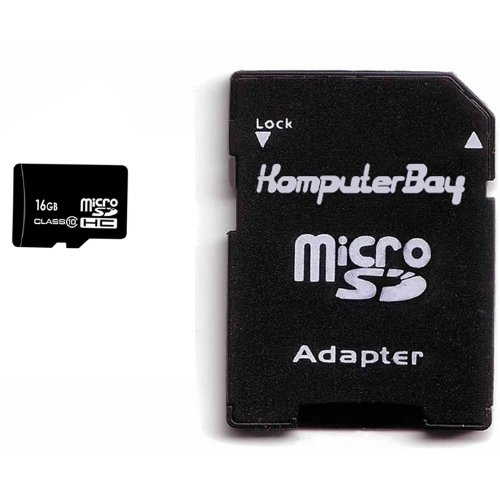Komputerbay 16gb Class 10 Microsdhc High Speed Memory Card With Komputerbay Sd Adapter Picture
