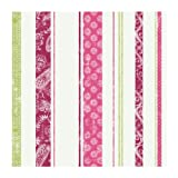 York Wallcoverings Disney Kids DK6091 Paisley Stripe Wallpaper, Pink, Magenta, & Green
