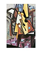 Especial Arte Lienzo Guitar and stool - Juan Gris Multicolor