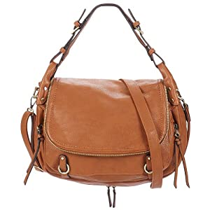 David Jones Zipper Satchel Handbag (British Tan)