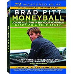 Moneyball (Mastered in 4K) (Single-Disc Blu-ray + Ultra Violet Digital Copy)