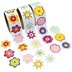 3 Rolls ~ Flower Stickers ~ 300 Stickers Total ~ Approx. 1.5